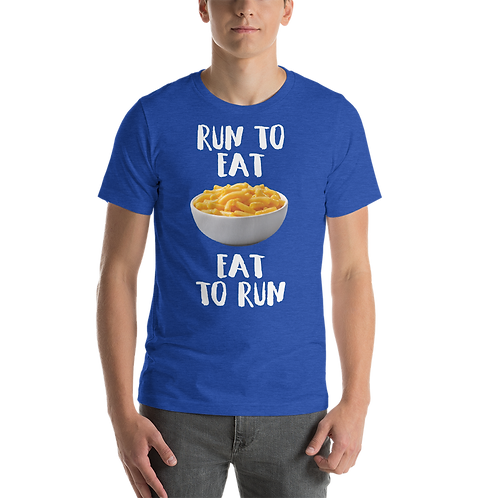 Run to Eat Eat to Run - Men's Mac and cheese shirt