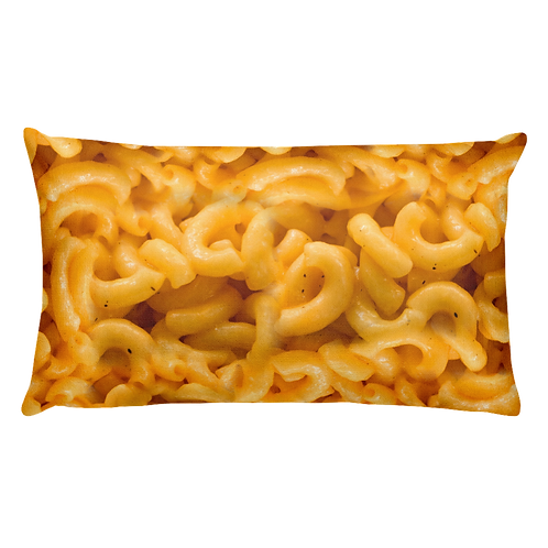 Mac 'N Cheese Photo Pillow - Macaroni & Cheese Pillow - Large Rectangular Mac and Cheese Pillow