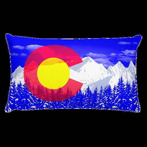 Colorado Rocky Mountains Pillow - Colorado Flag Pillow - Denver Colorado Rocky Mountains Pillow