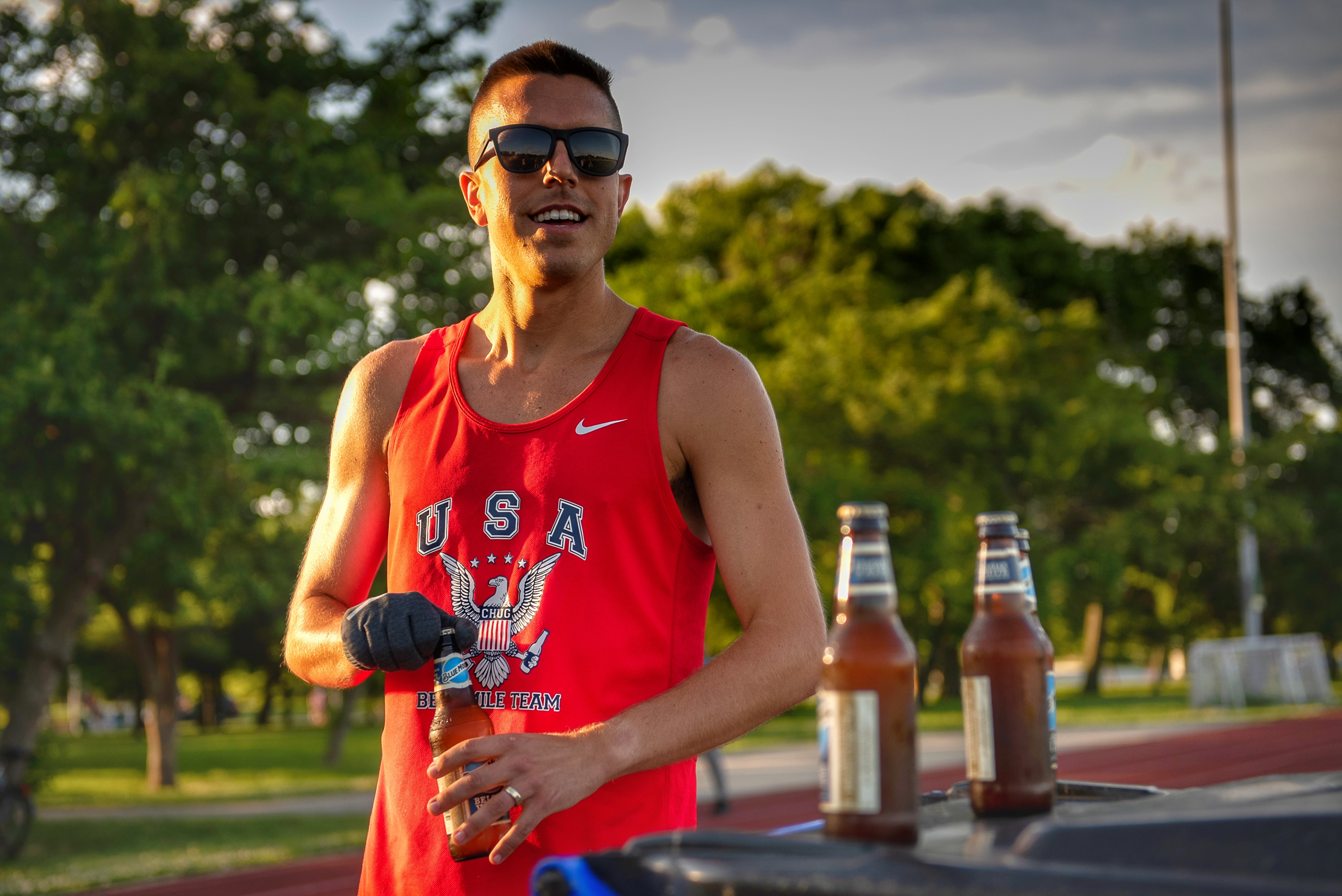 Chris Robertson 4:38 Beer Mile American Record June 2020