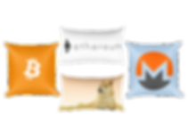 Custom Pillows from The Blockchain Store - Bitcoin Pillows, Ethereum Pillows, Blockchain Pillows