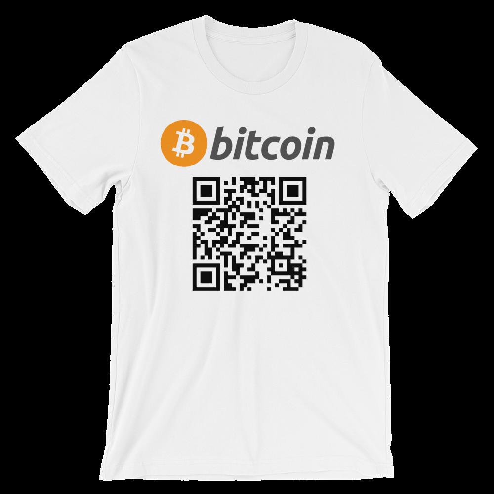 Personalized Qr Code Bitcoin Shirt Custom Qr Code Blockchain Store