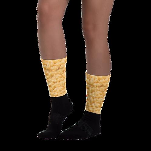 Mac N Cheese Socks - Macaroni and Cheese Socks - Mac and Cheese Socks