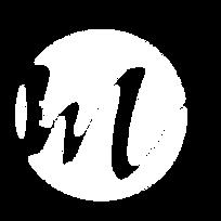Cercle blanc, représentant O de Ode, traversé par une ondulation formant le M de Merveilleux