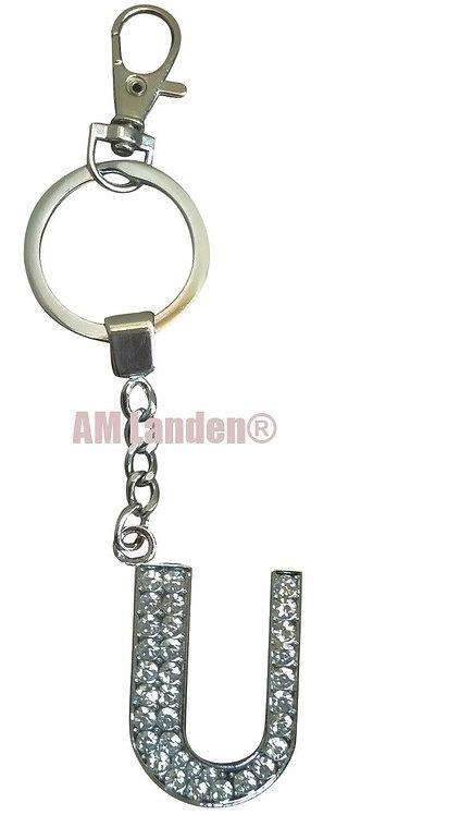 "Rhinestone Bling Crystal Alphabet ""H"" Key-chain"