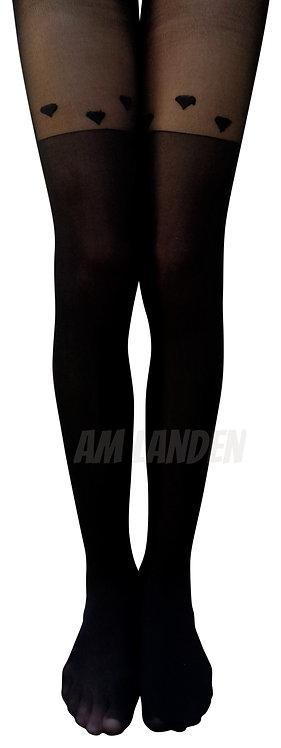 AM Landen Black Diamond Mock Thigh-Highs Pantyhose