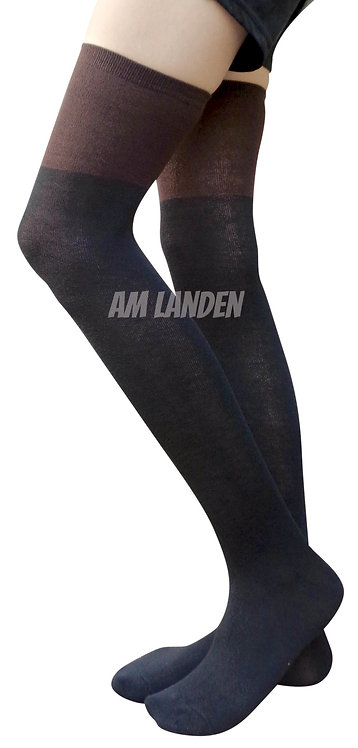 AM Landen Over-Knee Wool Socks(Black/Brown)