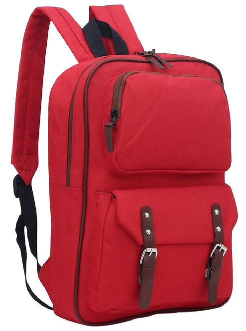 "AM Landen®Canvas 14""Laptop Backpack ForSchool(Red)"