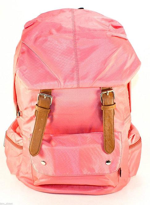Soft Silky Nylon Backpack Laptop Bag(Pink)