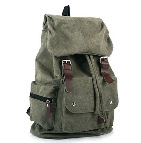 AM Landen Super Cute Green Canvas Backpack