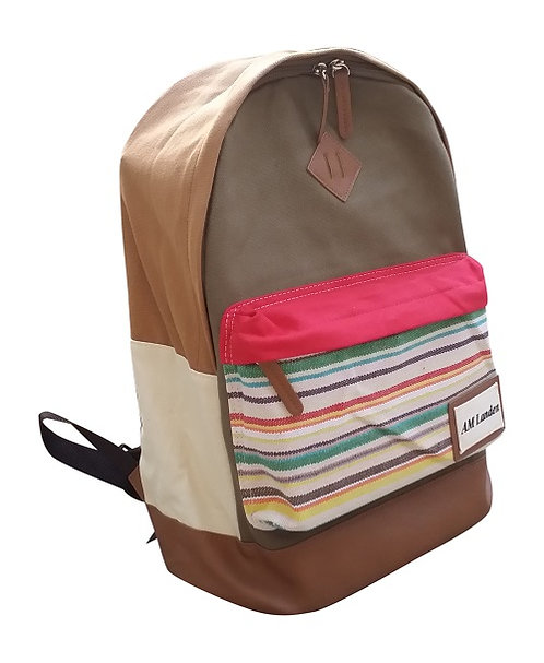 "Light Canvas Backpacks,14"" Laptop Bags(Khaki)"