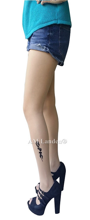 Summer Mock Tatoo Pantyhose(Nude/Rose)