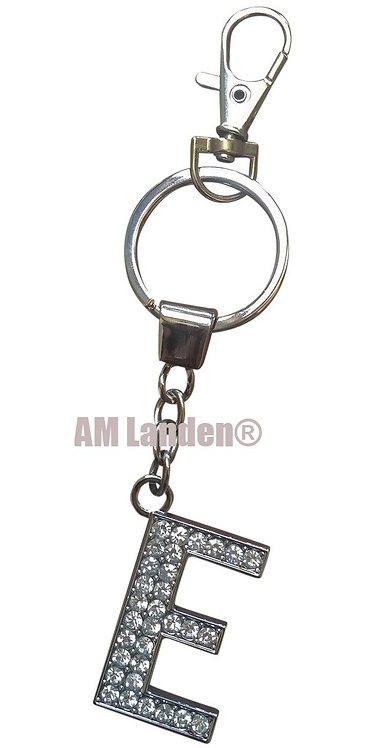 "Rhinestone Bling Crystal Alphabet ""E"" Key-chain"