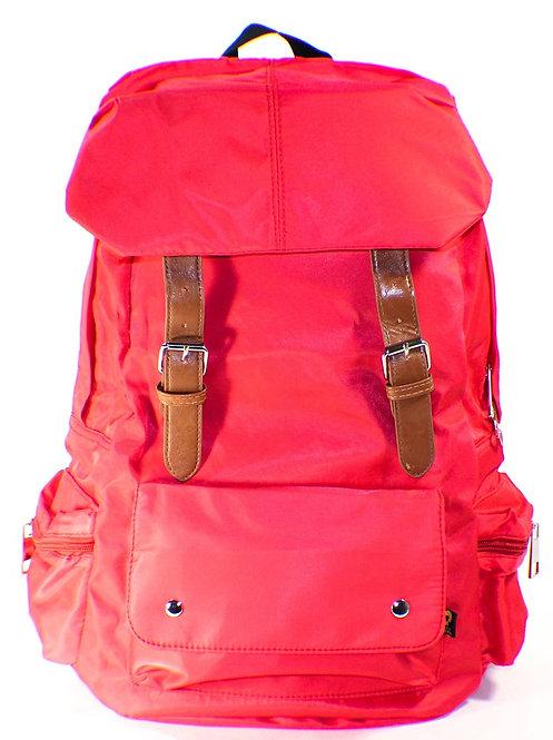 Soft Silky Nylon Backpack Laptop Bag(Red)