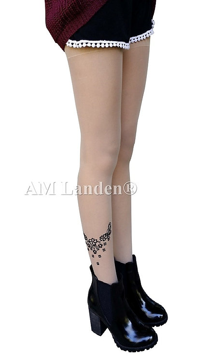 Summer Mock Tatoo Pantyhose(Nude/Star.Flower)