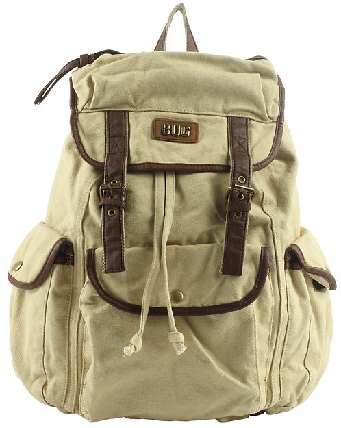 BUG Unisex Canvas Backpack(Beige)