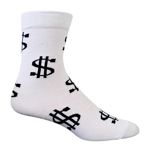 White Money Fun Socks
