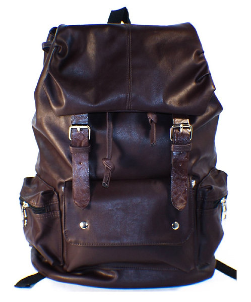 AM Landen Synthetic Soft Leather Backpack(Brown)