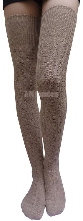 Ladies's Thigh-Highs Knit Boot Socks(Khaki)