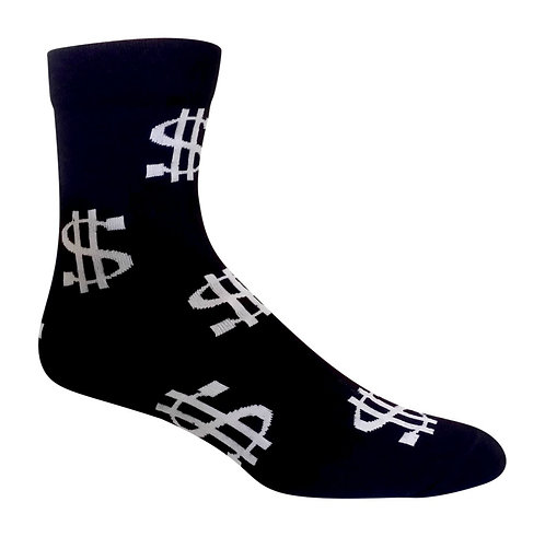 Black Money Fun Socks