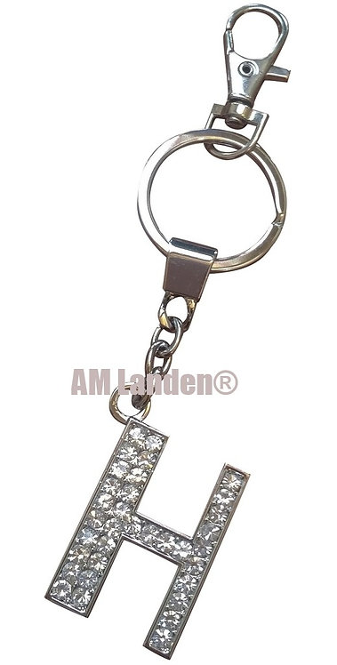 "Rhinestone Bling Crystal Alphabet ""U"" Key-chain"