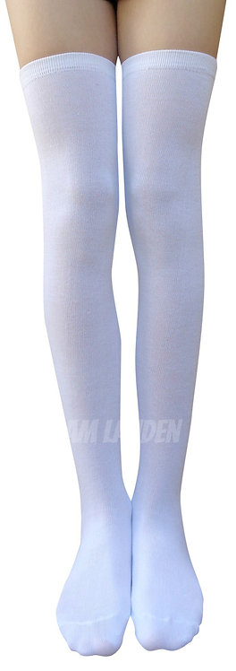 AM Landen Over-Knee Wool Socks(White)