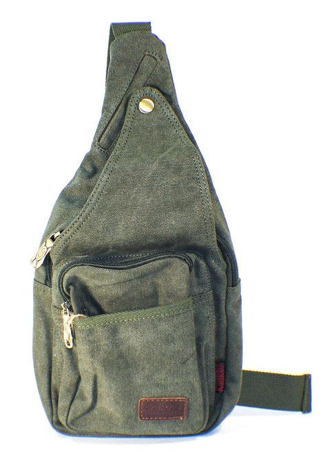 Canvas Messenger Sling Casual Body Bag(Green)