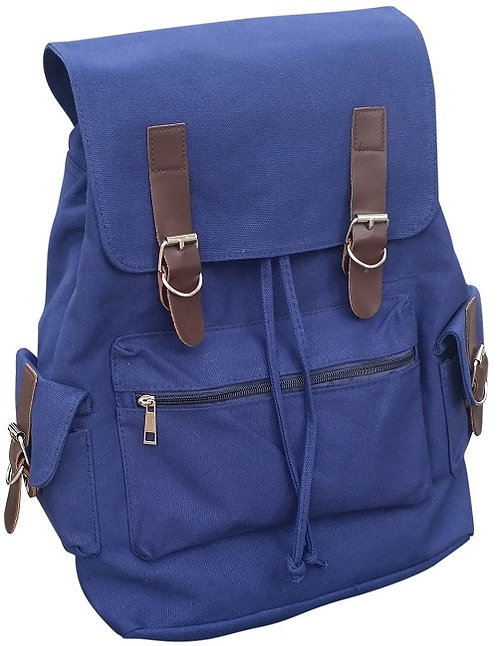 AM Landen Medium Size Canvas Backpack(Blue)