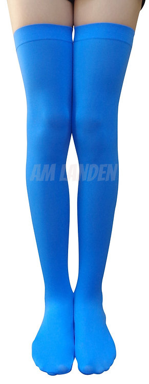 L.BLUE Thigh/Over Knee High Solid Opaque Socks