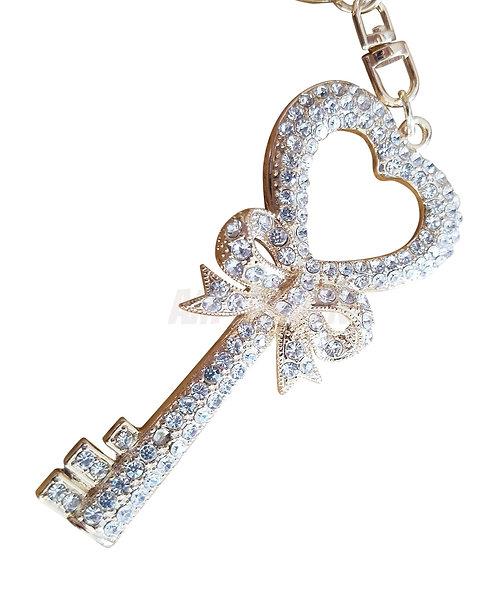 Rhinestone Keychain Bling Hand Charm (Love C)