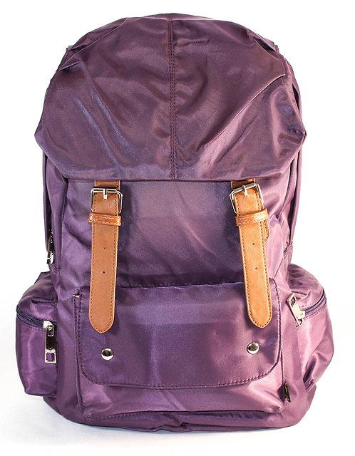 Soft Silky Nylon Backpack Laptop Bag(Purple)