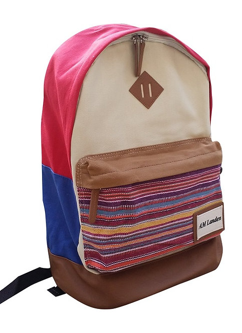 "Light Canvas Backpacks,14"" Laptop Bags(Beige)"