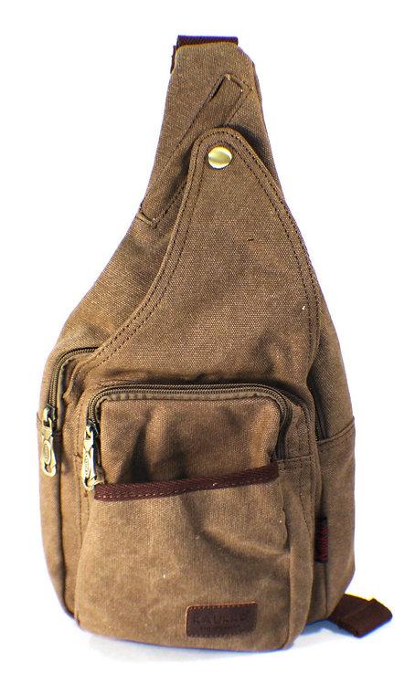 Canvas Messenger Sling Casual Body Bag(Khaki)