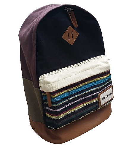 "Light Canvas Backpacks,14"" Laptop Bags(Black)"