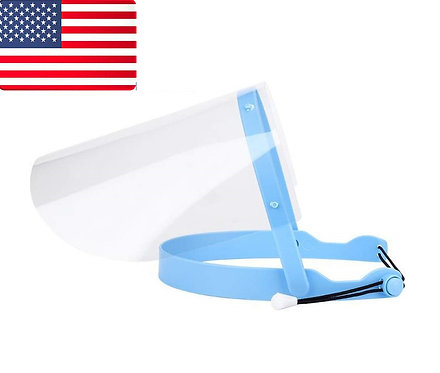 5 sets Adjustable Dental Face Shield with 10 Plastic Protective Film SHIP USA