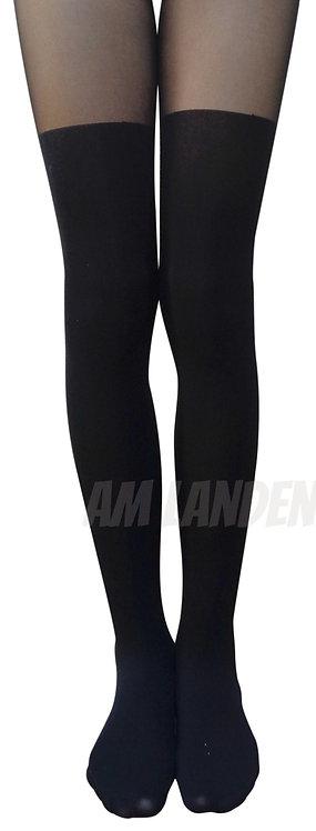AM Landen Upgrade Mock Thigh-High Pantyhose(Black)