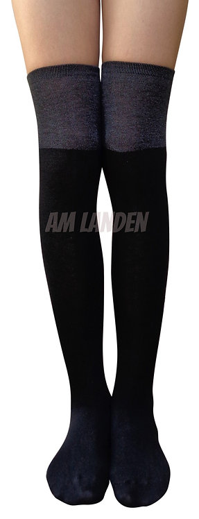 AM Landen Over-Knee Wool Socks(Black/Gray)