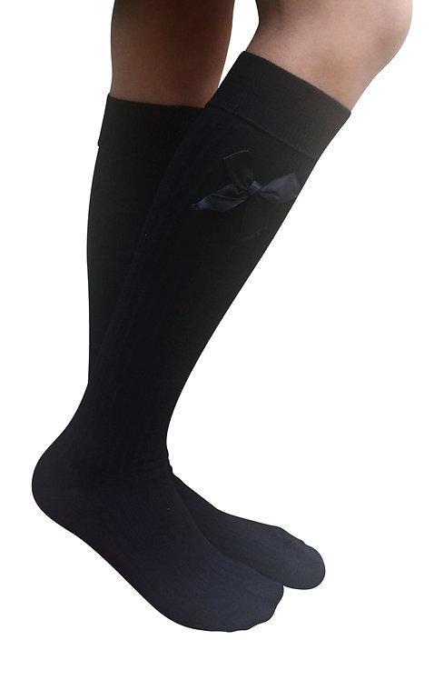 AM Landen Knee-Highs Wool Socks(Black)