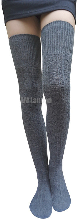 Ladies's Thigh-Highs Knit Boot Socks(Gray)