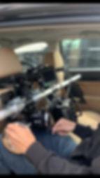 Camera car back seat
