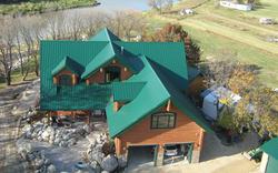 metal roof top View