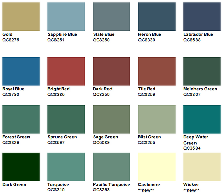 Roof Color Pallet