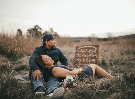 Marvin & Maggie | Engagement | Rustic Winter Sunset