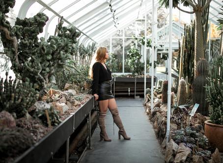 Fashion Portraits    Chantalie    Volunteer Park Conservatory