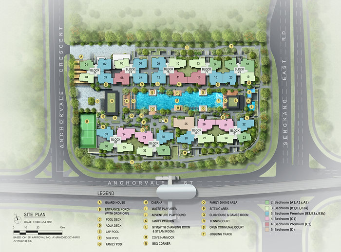 The Vales Siteplan