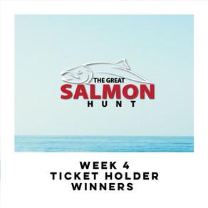 Week 4 Ticket Holder Winners