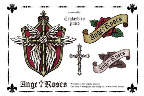 Tatoo sticker/Ange†Roses logo Red