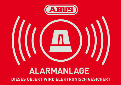Warnaufkleber Alarm mit ABUS Logo 148 x 105 mm (1 Stück)
