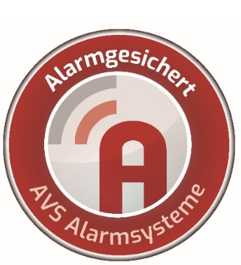 AVS Aufkleber Alarmgesichert