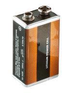 Ersatzbatterie 9 V Lithium-Blockbatterie